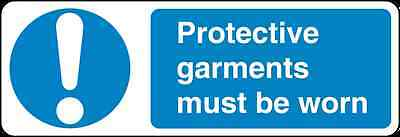 Health and Safety Mandatory Blue Sticker Protective Garments Must be Worn