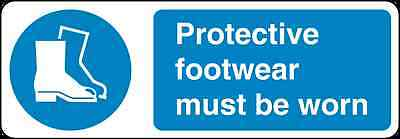 Health and Safety Mandatory Blue Sticker Protective Footwear Must be worn