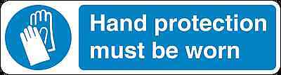 Health and Safety Mandatory Blue Sticker Hand Protection Must Be Worn Sticker