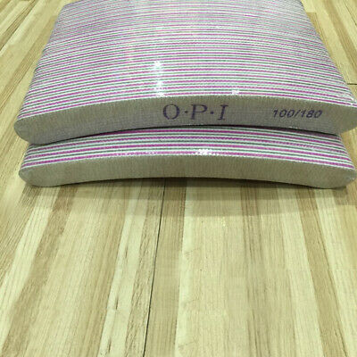 NAIL FILES 100/180 Grit Buffing Double Sided CURVED Sanding Nail Buffer Manicure