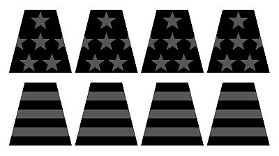 8 Reflective Subdued American Flag Fire Helmet Tetrahedrons Tets Firefighter