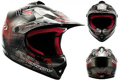 ARROW AKC-49 titan Cross Motorradhelm Kinder Kinderhelm Crosshelm - XS S M L XL