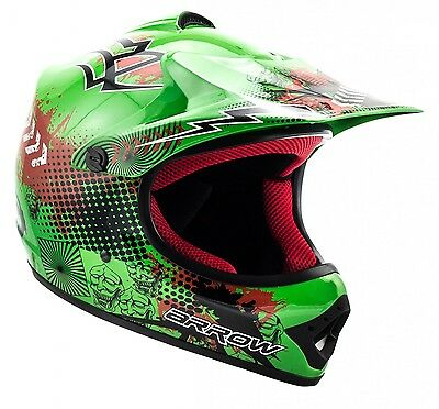 ARROW AKC-49 green Cross Motorradhelm Kinder Kinderhelm Crosshelm - XS S M L XL