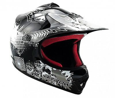 ARROW AKC-49 black Cross Motorradhelm Kinder Kinderhelm Crosshelm - XS S M L XL