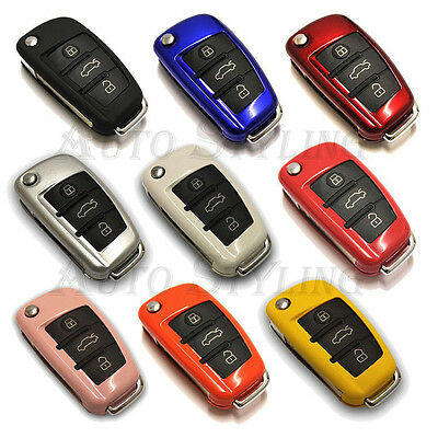 Remote Flip Key Cover for Audi Case Fob Skin Protection Shell Bag Hull Cap 28