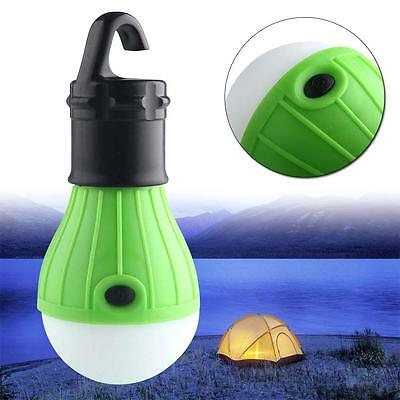 Battery Operated Voyage Camp Tente Sac Suspendre Ampoule LED Torch Lampe Vert EH