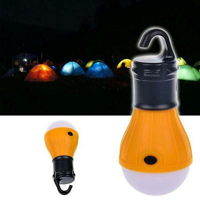 Battery Operate Voyage Camp Tente Sac Suspendre Ampoule LED Torch Lampe Jaune EH