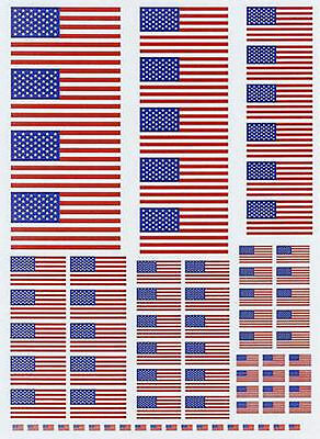 USA National Union Flag 50 Stars Vinyl Self Adhesive External Grade Model Decals
