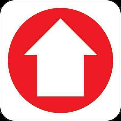 Health and Safety Fire Sticker Sign Fire Arrow Up 2 Direction Sticker
