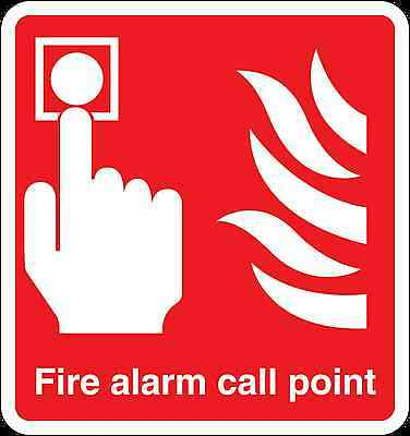 Health and Safety Fire Sticker Sign Fire Alarm Call Point Sticker Red
