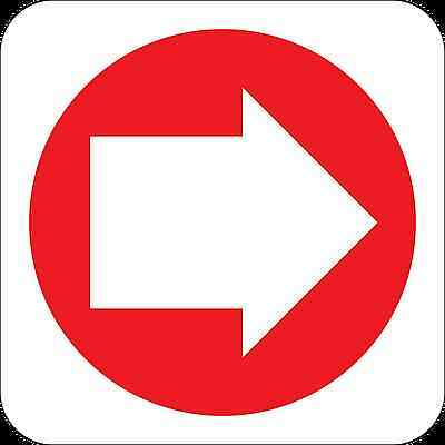 Health and Safety Fire Sticker Sign Fire Arrow Right 2 Direction Sticker