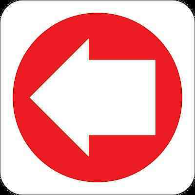 Health and Safety Fire Sticker Sign Fire Arrow left 2 Direction sticker