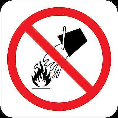 Health and Safety Fire Sticker Sign Do Not Extinguish Sticker