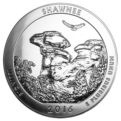 2016 Silver 5 oz ATB Shawnee National Forest Brilliant Uncirculated