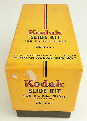 Kodak Glass Slide Kit 2x2 in. Contains 88 Slides.