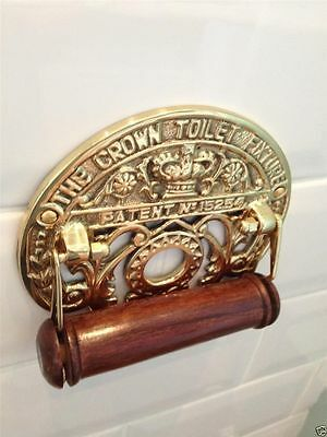 Traditional Crown Vintage Design Victorian Toilet Roll Holder Solid Brass
