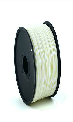 Filament for 3D printing Fil Printer 3D ABS 1.75mm White Reel 1 KG CE-ROHS