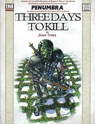 PENUMBRA-THREE DAYS TO KILL-D&D-Handbook-d20-(SC)-engl.-Rarität