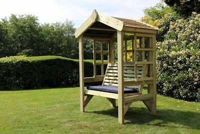 Wooden Garden Arbour Trellis Garden Seat with Roof Wooden Arbour Bench Solid