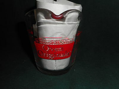 Anchor Hocking Oven Originals 1 Cup Glass Measuring Cup  #496