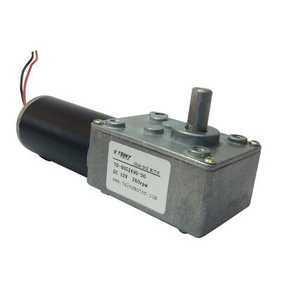 Reversible 12V Electrical DC Worm Gear Motor 260 RPM High Speed Metal Geared
