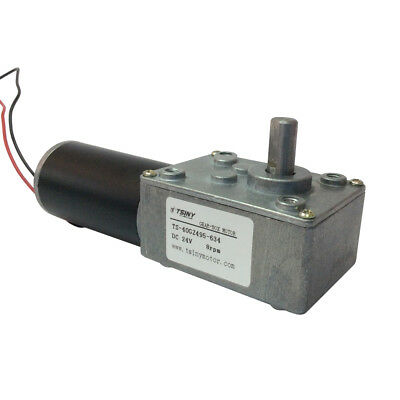 Metal Gear Motor 24V DC Geared Motor High torque 8 RPM Low Speed 8mm Out Shaft