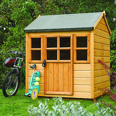 Wooden playhouse for kids outdoor garden play - UK mainland delivery included
