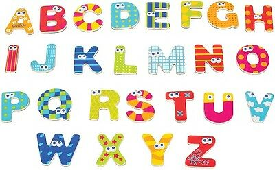 New Boikido Magnetic letters upper case magnets wooden shapes educational