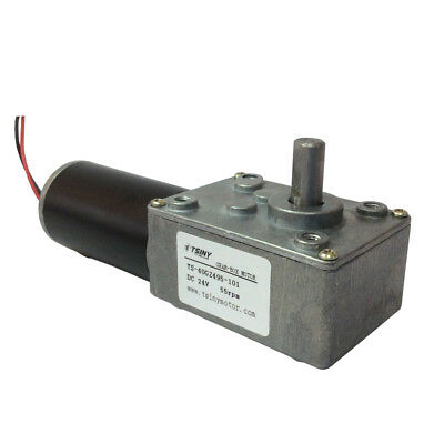 DC24V 55rpm DC Worm Gear Motor With Gear Reducer Gearbox Reduction Low Toeque