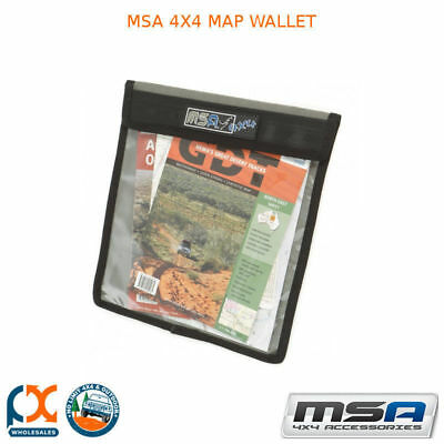 MSA 4x4 Map Wallet Heavy Duty Canvas and PVC