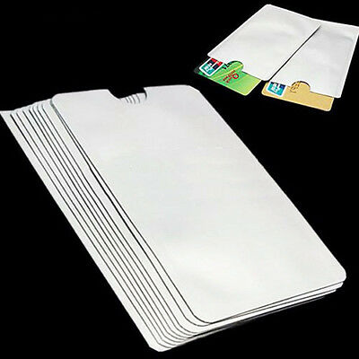 10Pcs RFID Secure Protector Blocking ID Credit Card Sleeves Holder Case Skin