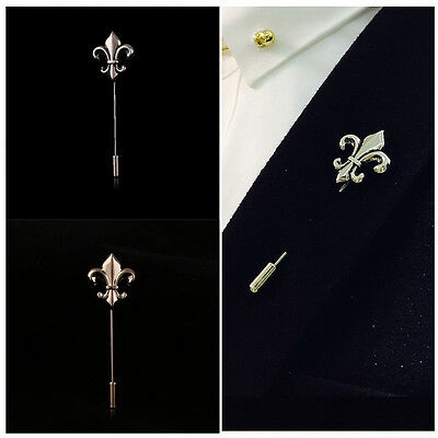 Retro Gold Silver Plated Lance Badge Brooch Lapel Pin Men Suit Accessory Jewelry