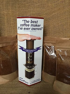 Aerobie Aeropress coffee maker Brewer With 3x200g Arabica Ground Coffee Gift Box