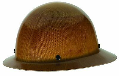 MSA 454664 Skullgard Full Brim Hard Hat with Staz-on Suspension, Natural Tan