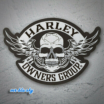 Large Winged Silver Skull Patch ~ Harley Davidson Owners Group HOG H.O.G.