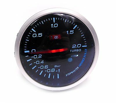60mm Universal Smoked Turbo Boost gauge 2 Bar Turbo Diesel TD TDI TDCI