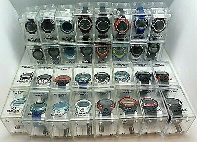 Lot of 20 OMAX / SPORT Watches Water Proof 10 bar Count Down Timer Back Light