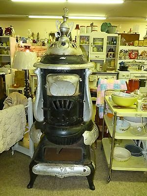 Parlor Stove C. Emrich #77 Columbus OH Late 1800's Patented Hot Blast Furnace