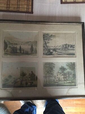 Historical 1800's New York Lithograph Picture Macombs Dam Harlem River 1850 RARE