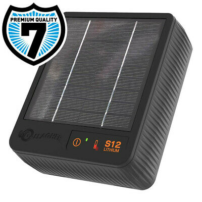 SOLAR S10 ELECTRIC FENCE ENERGISER - Gallagher Panel Battery Included Fencing