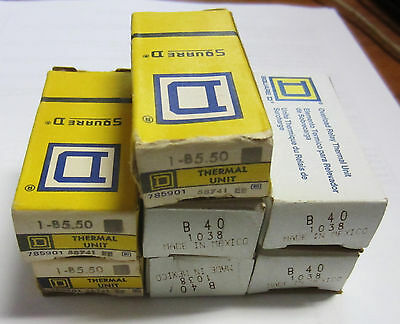 NEW Square D Thermal Units B40 (4) & 1-B5.50 (3) Lot of 7
