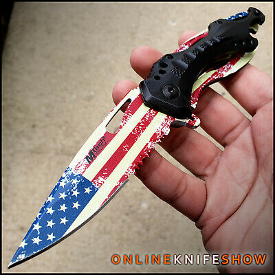 "8"" Buckshot Spring Assisted Open Blade Tactical Pocket Knife Wood"