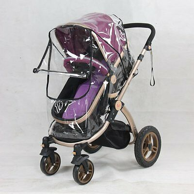 Universal Baby Canopy Waterproof Rain Cover Wind Shield Most Stroller Pushchairs