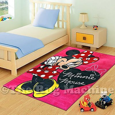 COOL DISNEY MINNIE MOUSE PINK KIDS PLAY RUG 133x200cm NON-SLIP & WASHABLE **NEW*