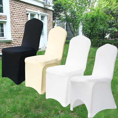 1-100pcs Chair Covers Spandex Lycra Cover for Wedding Banquet Anniversary Party