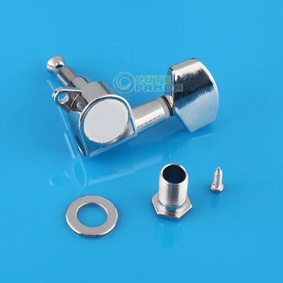Chrome 3R3L Acoustic Guitar String Tuning Pegs Tuners Machine Heads Guitar Tuner