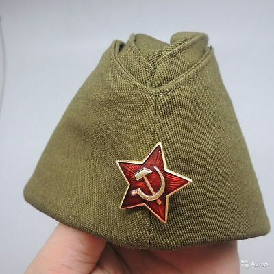Ussr Military Wwii Ww2 Soviet Soldier Russian Army Garrison Cap With Star 60