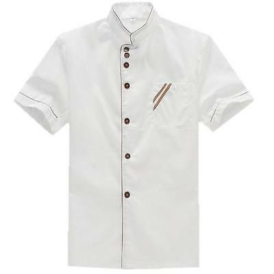 Kitchen Chef Uniform Short Sleeve Top Jacket/Coat Cooker Clothing For Working Y