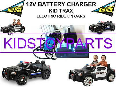 12 Volt Battery Charger KID TRAX DODGE CHARGER POLICE CAR w/ Blue Connector