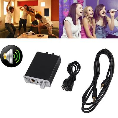 Professional Dual Microphone Amplifier Computer Microphone Reverb Excellent DI